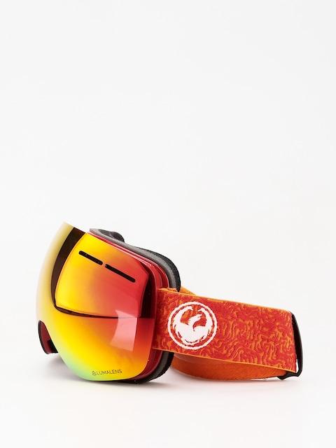 Okuliare na snowboard Dragon X1s (maze/lumalens red ion/lumalens rose)