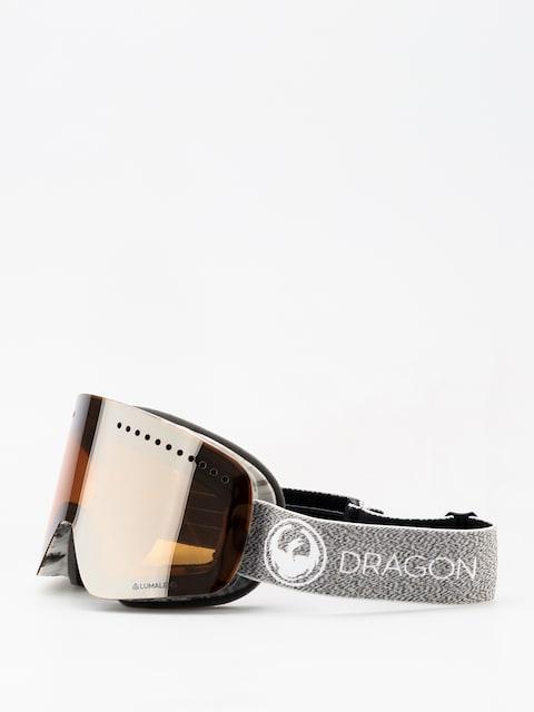 Okuliare na snowboard Dragon NFX (mill/lumalnes silver ion/dark smoke)