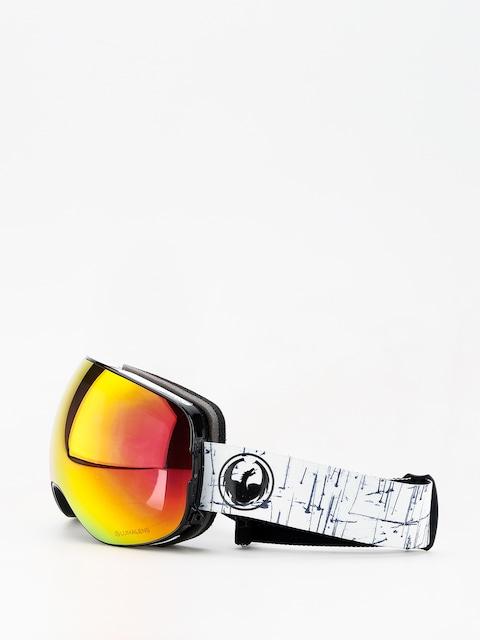 Okuliare na snowboard Dragon X2 (realm/lumalens red ion/l rose)