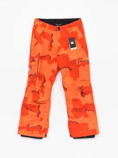 Snowboardové nohavice DC Banshee (red orange dcu camo)