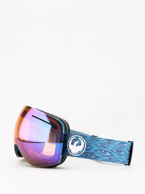 Okuliare na snowboard Dragon X1 (midnight/lumalens blue ion/lumalens amber)