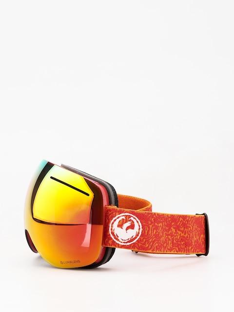 Okuliare na snowboard Dragon X1 (maze/lumalens red ion/lumalens rose)