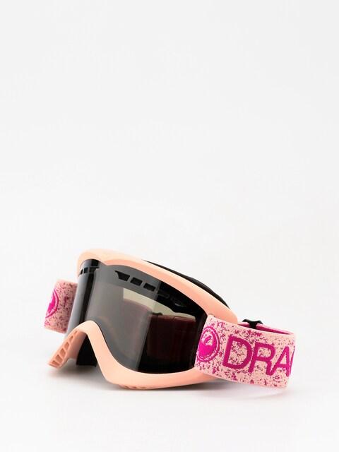 Okuliare na snowboard Dragon DX (pink/dark smoke)