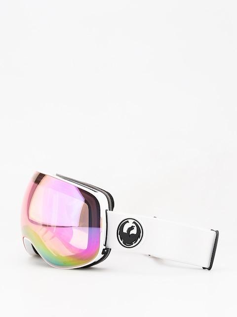 Okuliare na snowboard Dragon X2 (white/lumalens pink ion/dark smoke)