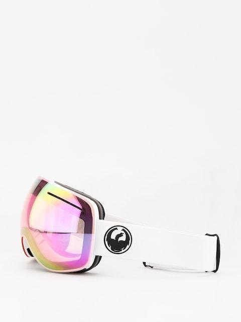 Okuliare na snowboard Dragon X1 (white/lumalens pink ion/dark smoke)