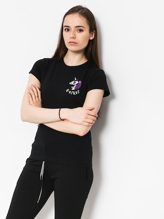 Tričko Stoprocent Unicorn Wmn (black)