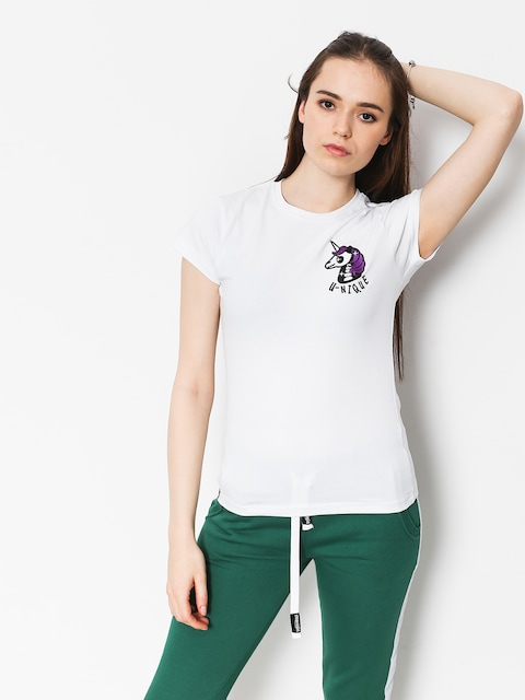 Tričko Stoprocent Unicorn Wmn (white)