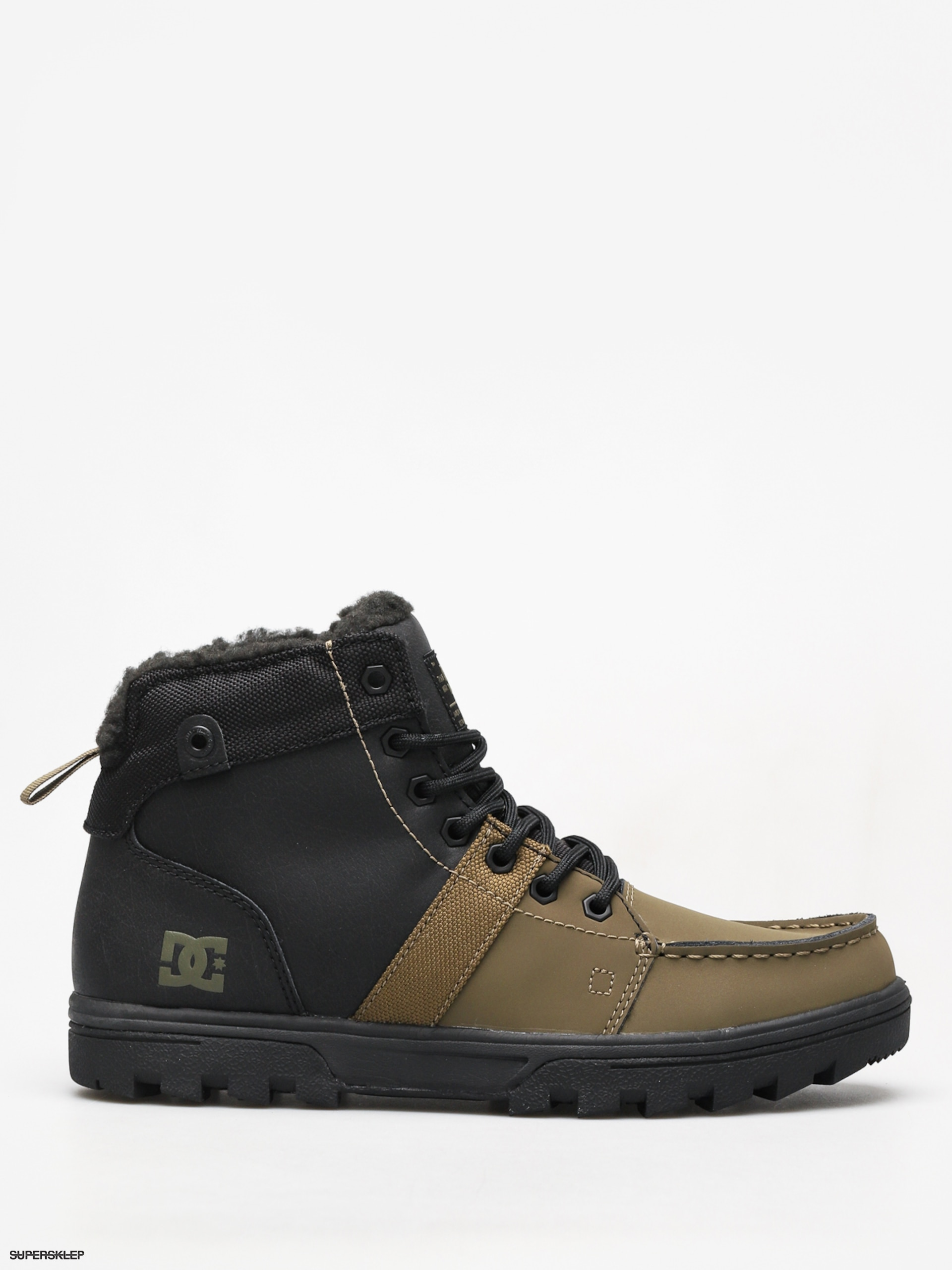 dc0e6e42d Zimné topánky DC Woodland (black/olive)