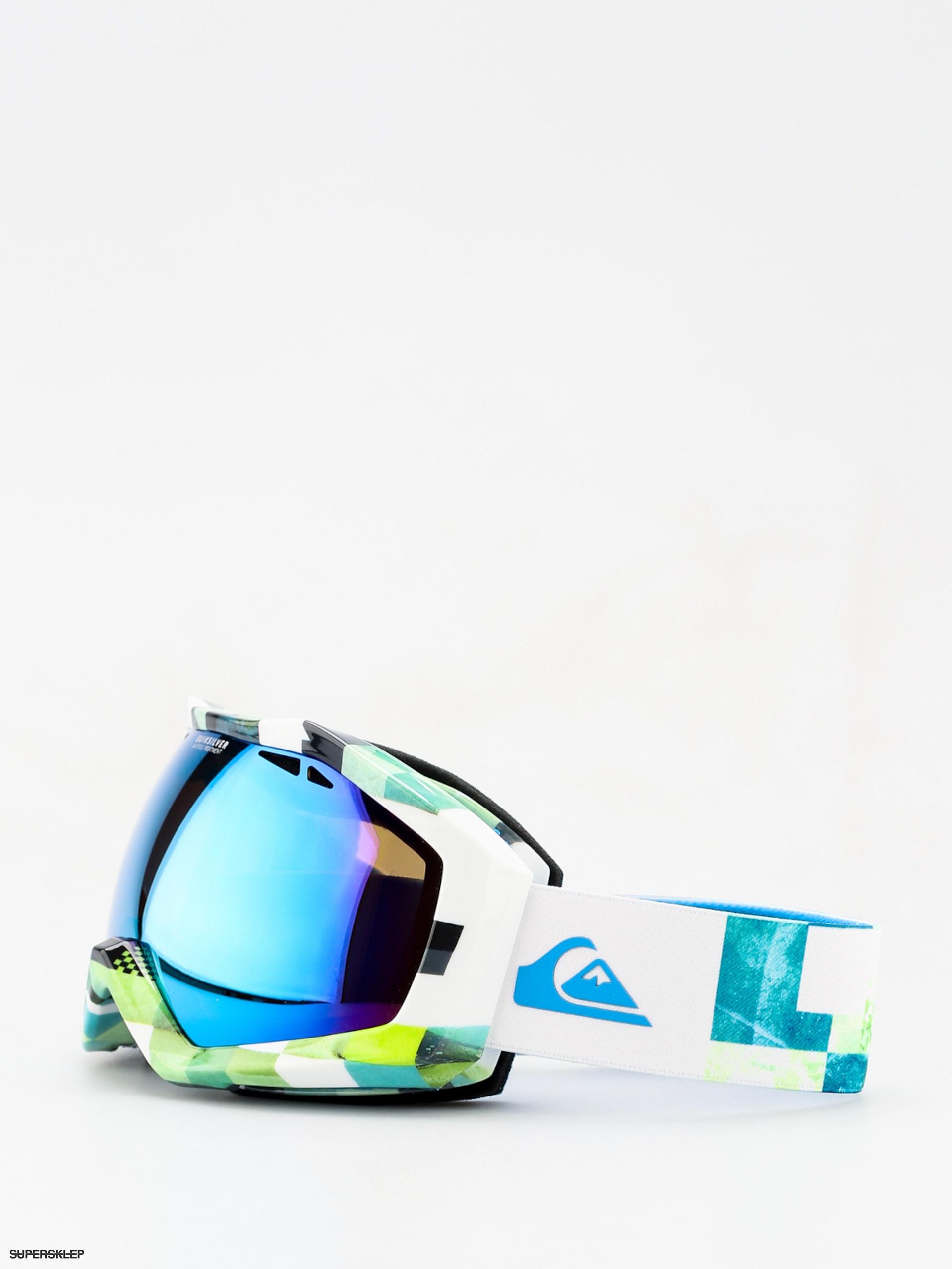 9abc4cec0 Okuliare na snowboard Quiksilver Fenom Art Serie (check atomic green)