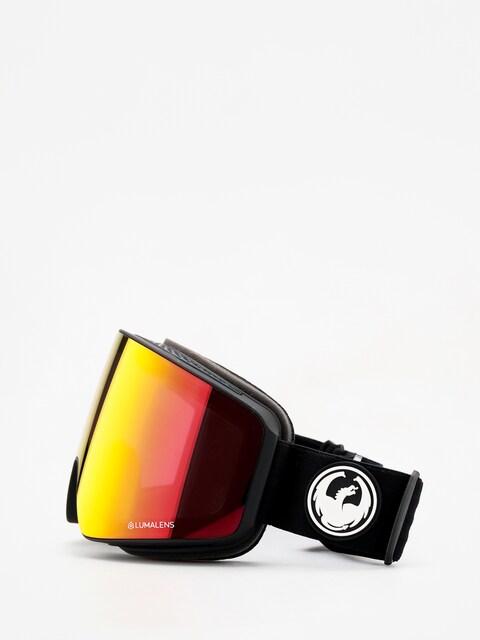 Okuliare na snowboard Dragon PXV (black/lumalens red ion/lumalens rose)
